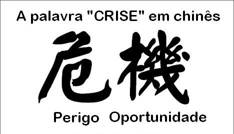 crise - perigo ou oportunidade